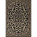 Alliyah Handmade Black New Zealand Blend Wool Rug  (10' x 8')