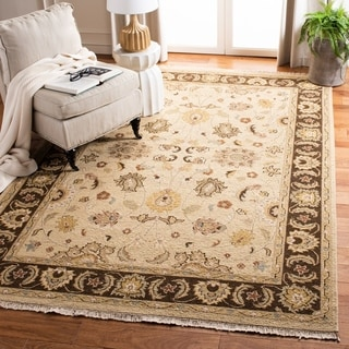 Safavieh Couture Sumak Handmade Flatweave Taupe/ Olive Green Wool Area Rug (4' x 6')