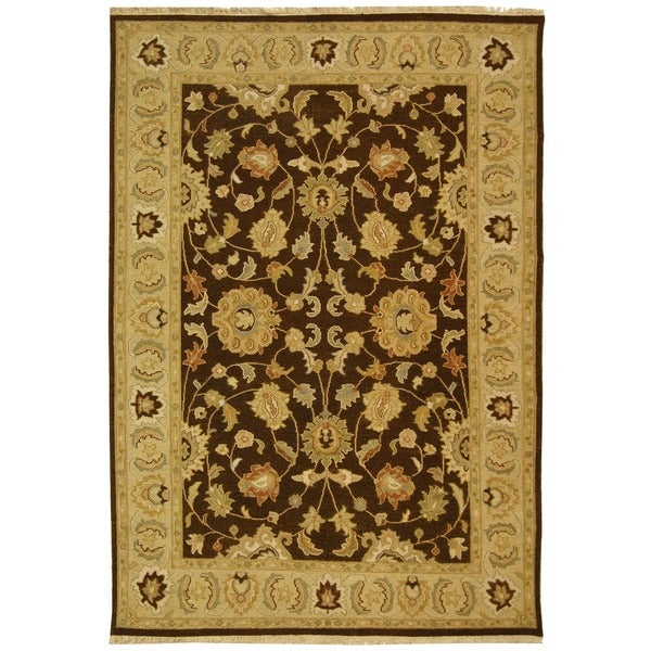 Safavieh Couture Sumak Handmade Flatweave Taupe/ Olive Green Wool Area Rug - 6' x 9'