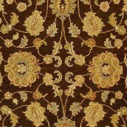 Indo Handmade Sumak Flatweave Brown/ Beige Rug (6' x 9') - Thumbnail 2