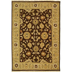Indo Sumak Handmade Heirloom Brown/ Beige Rug (9' x 12')