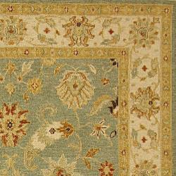 Indo Sumak Handmade Majesty Light Blue/ Beige Rug (4' x 6') - Thumbnail 1