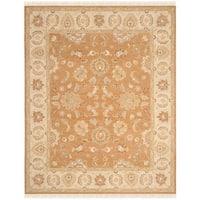 Safavieh Couture Sumak Handmade Flatweave Gold/ Ivory Wool Area Rug - 8' x 10'