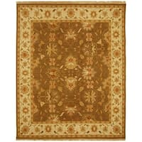Handmade Safavieh Couture Sumak Flatweave Brown/ Ivory Wool Area Rug (India) - Brown/Multi - 8' x 10'