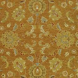 Indo Sumak Handmade Flatweave Dark Gold/ Ivory Rug (4' x 6') - Thumbnail 2