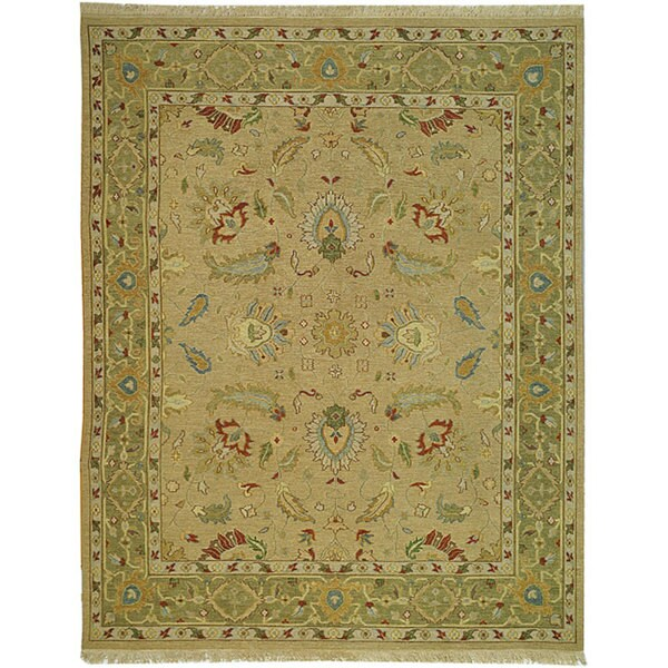 Safavieh Couture Sumak Handmade Flatweave Taupe Green