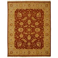 Handmade Safavieh Couture Sumak Flatweave Foli Red/ Beige Wool Area Rug - 10' x 14' (India)