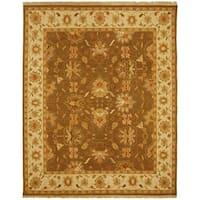 Safavieh Couture Sumak Handmade Flatweave Brown/ Ivory Wool Area Rug