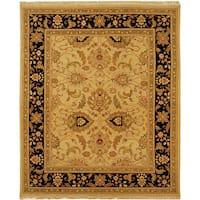 Safavieh Couture Sumak Handmade Flatweave Light Gold/ Black Wool Area Rug - 10 x 14