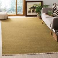 Safavieh Couture Sumak Handmade Flatweave Solid Light Green Wool Area Rug - 8' x 10'