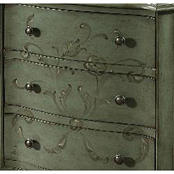 Hand-painted Distressed Aqua Blue Accent Chest - Thumbnail 1