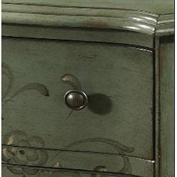 Hand-painted Distressed Aqua Blue Accent Chest - Thumbnail 2
