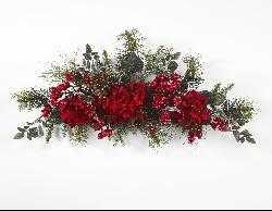 Holiday 30-inch Hydrangea Swag - Thumbnail 1