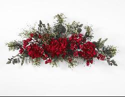 Holiday 30-inch Hydrangea Swag - Thumbnail 2