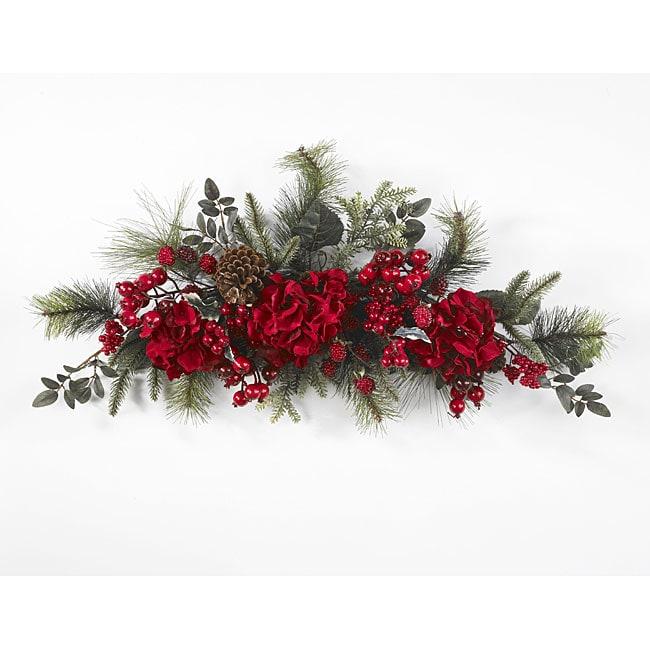 Holiday 30-inch Hydrangea Swag