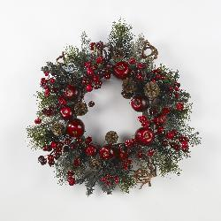 Apple Berry 22-inch Wreath - Thumbnail 1