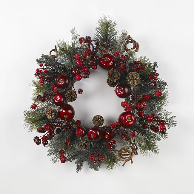 Apple Berry 22-inch Wreath - Thumbnail 0
