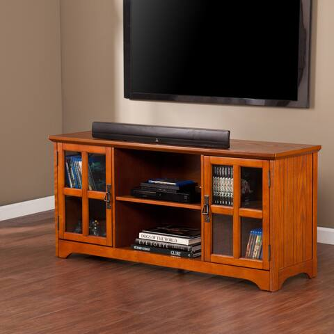 Copper Grove Taber Mission Oak TV Stand