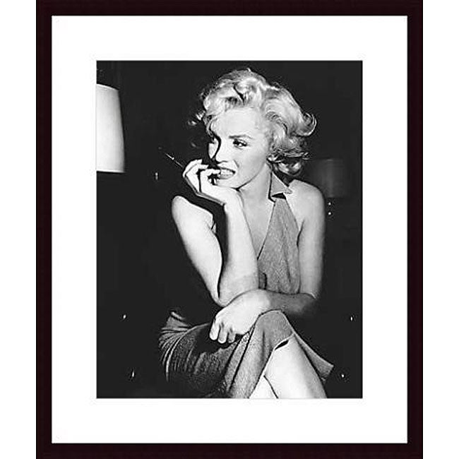 photo marilyn monroe 1952 wood framed print