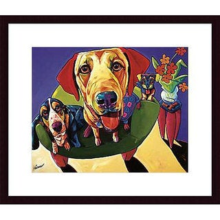 Ron Burns 'Molly, Moe & Jack' Wood Framed Art Print