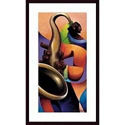 Maurice Evans 'Mo' Sax' Wood Framed Art Print