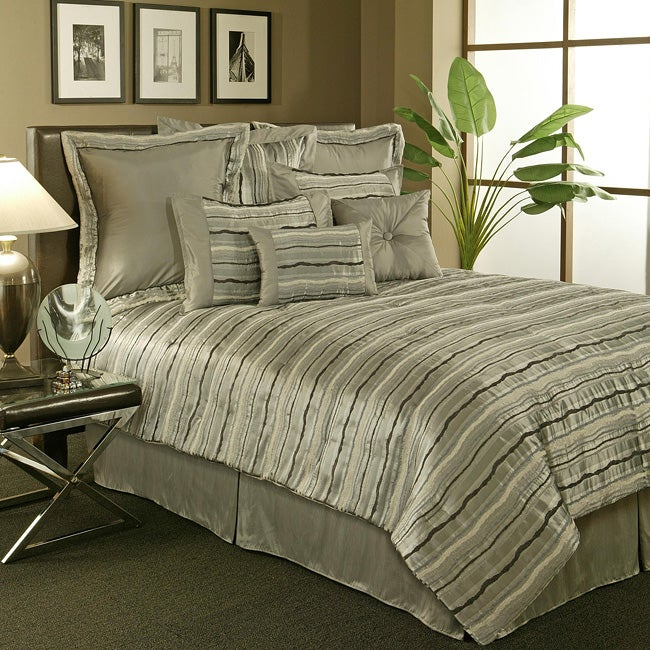 sherry kline 39 stretta 39 6 piece spa blue comforter set. Black Bedroom Furniture Sets. Home Design Ideas