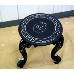 Handmade Three-legged African Elephant End Table (Ghana)