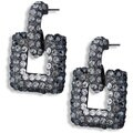 NEXTE Jewelry Hematite over Brass Tri-color Cubic Zirconia Nocturnal Earrings