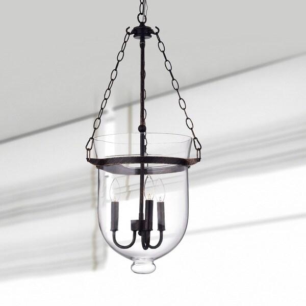 Antique Copper-Finish 60-Watt Glass Lantern Chandelier - Free Shipping  Today - Overstock.com - 12311978 - Antique Copper-Finish 60-Watt Glass Lantern Chandelier - Free