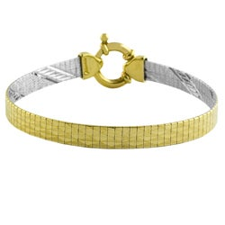 Fremada 14k Two-tone Gold Reversible Flex Bracelet