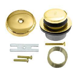 Polished Brass Tip-toe Tub Waste/ Drain Trim Kit - Thumbnail 2