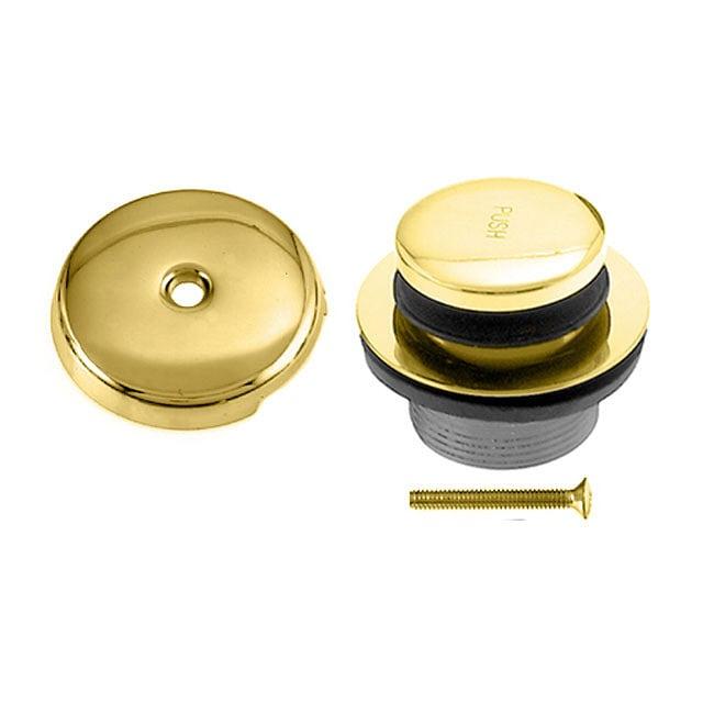 Polished Brass Tip-toe Tub Waste/ Drain Trim Kit