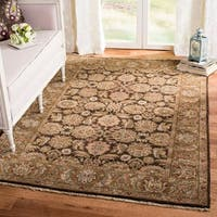 Handmade Safavieh Couture Old World Dark Brown/ Gold Wool Area Rug (China)