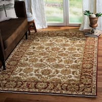 Safavieh Couture Old World Hand-Knotted Ivory/ Rust Wool Area Rug (6' x 9')