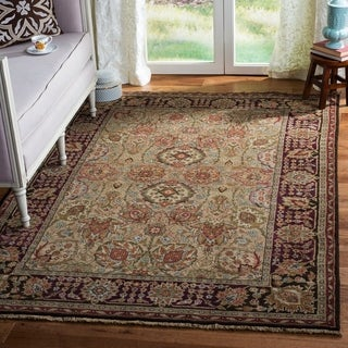 Safavieh Couture Old World Hand-Knotted Camel/ Wine Wool Area Rug (5' x 7'6)