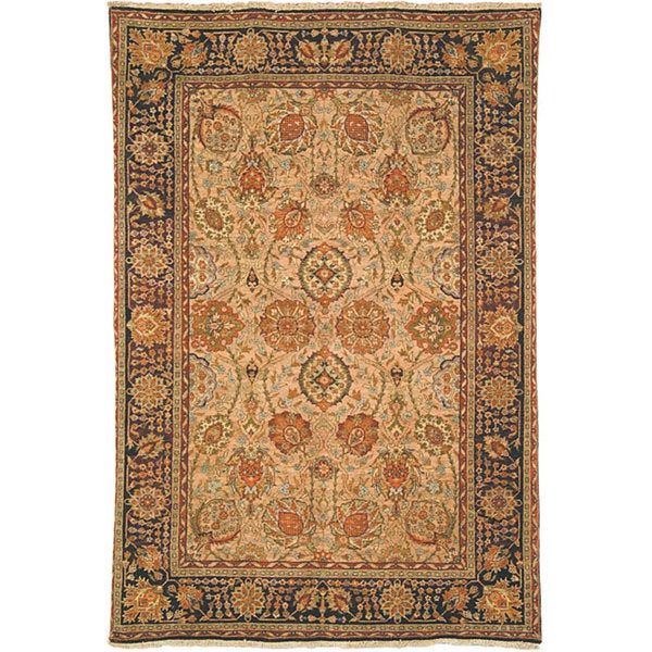 Heirloom Hand-knotted Kashan Camel Wool Rug (6' x 9')