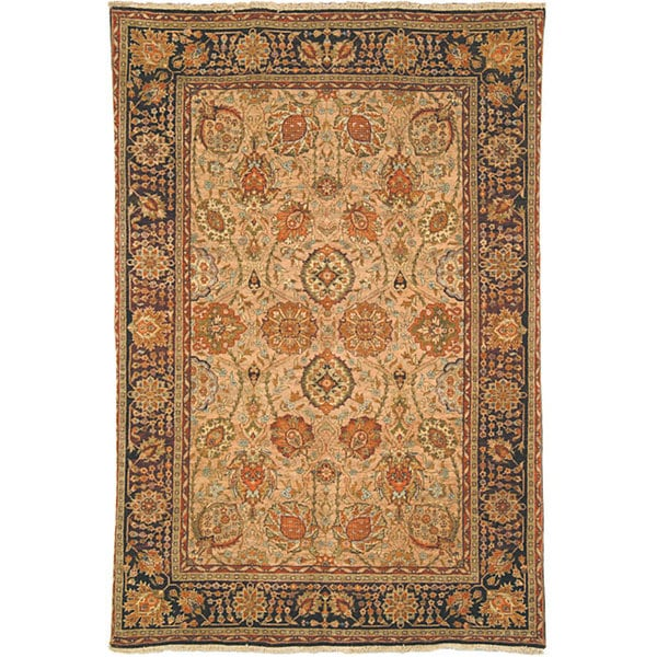 Safavieh Couture Old World Hand-Knotted Camel/ Wine Wool