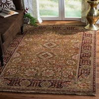 Safavieh Couture Old World Hand-Knotted Kashan Gold Wool Area Rug (8' x 10')