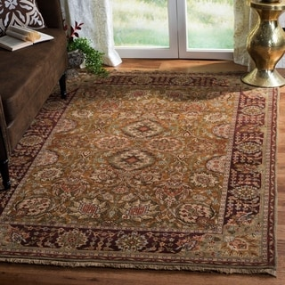 Safavieh Couture Old World Hand-Knotted Kashan Gold Wool Area Rug (9' x 12')