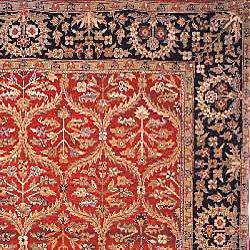 Heirloom Treasures Hand-knotted Red Rug (5' x 7'6) - Thumbnail 1