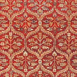 Heirloom Treasures Hand-knotted Red Rug (5' x 7'6) - Thumbnail 2