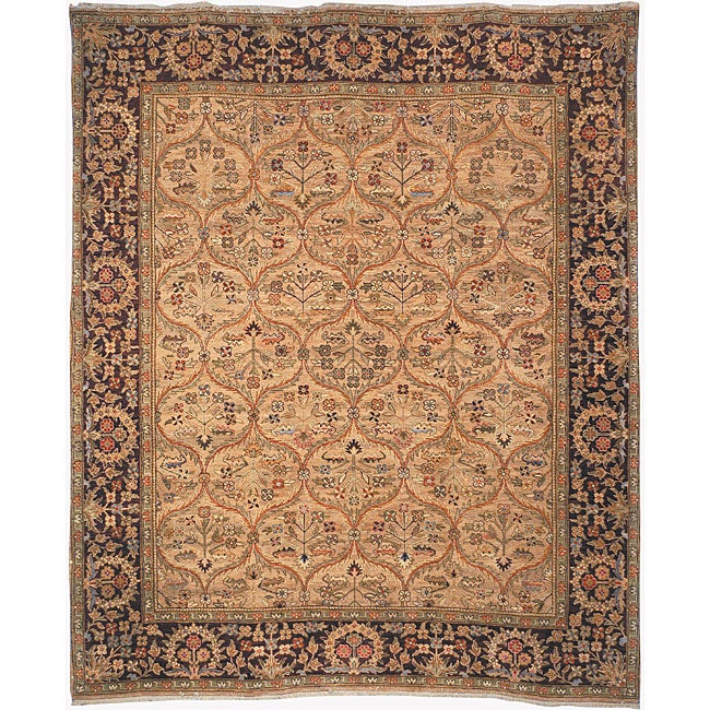 Heirloom Hand-knotted 'Treasures' Kerman Wool Rug (9' x 12')