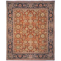 Safavieh Couture Old World Oushak Hand-Knotted Salmon/ Navy Wool Area Rug - 8' x 10'