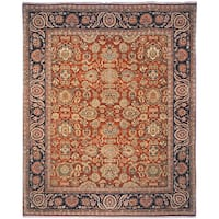 Handmade Safavieh Couture Old World Oushak Salmon/ Navy Wool Area Rug - 8' x 10' (China)