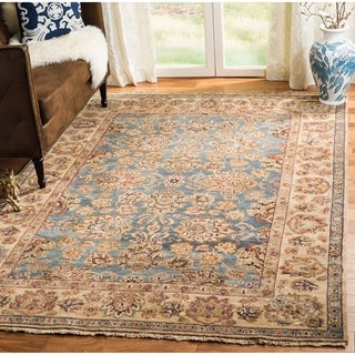 Safavieh Couture Old World Hand-Knotted Light Green/ Gold Wool Area Rug (9' x 12')