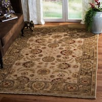 Handmade Safavieh Couture Old World Ivory/ Green Wool Area Rug - 9' x 12' (China)