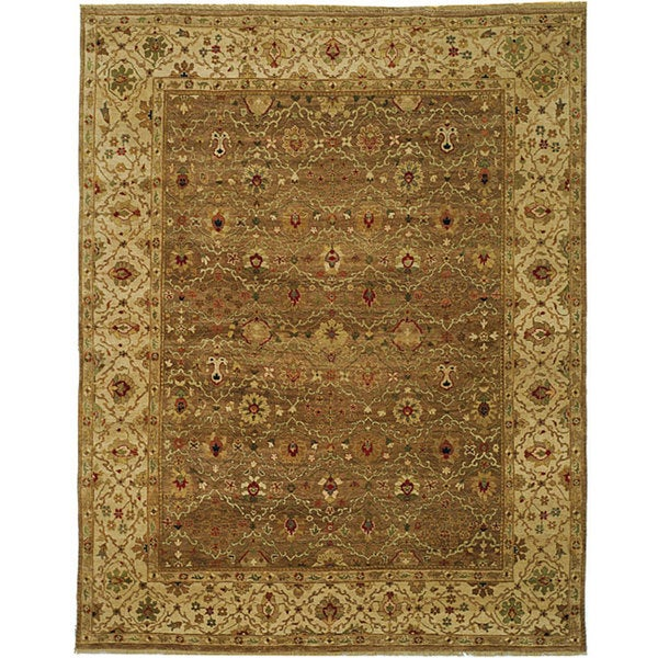Shop Handmade Safavieh Couture Old World Green/ Ivory Wool