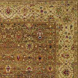Heirloom Treasures Hand-knotted Beige Wool Rug (6' x 9')