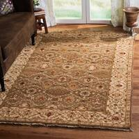 Handmade Safavieh Couture Old World Green/ Ivory Wool Area Rug - 6' x 9' (China)