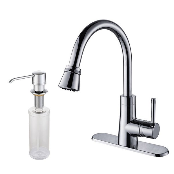 Kraus Brass Single-lever Pull-out Faucet withDispenser